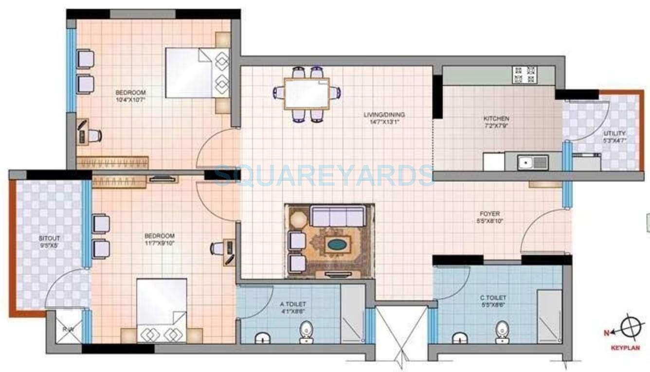 mantri group synergy 2 apartment 2bhk 990sqft1