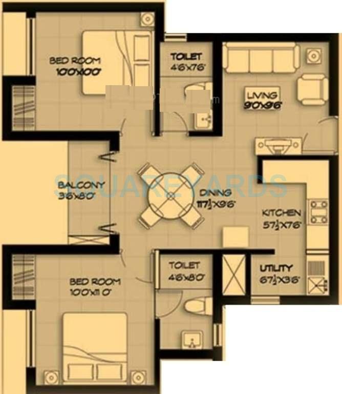 marg pushpadruma apartment 2bhk 847sqft1