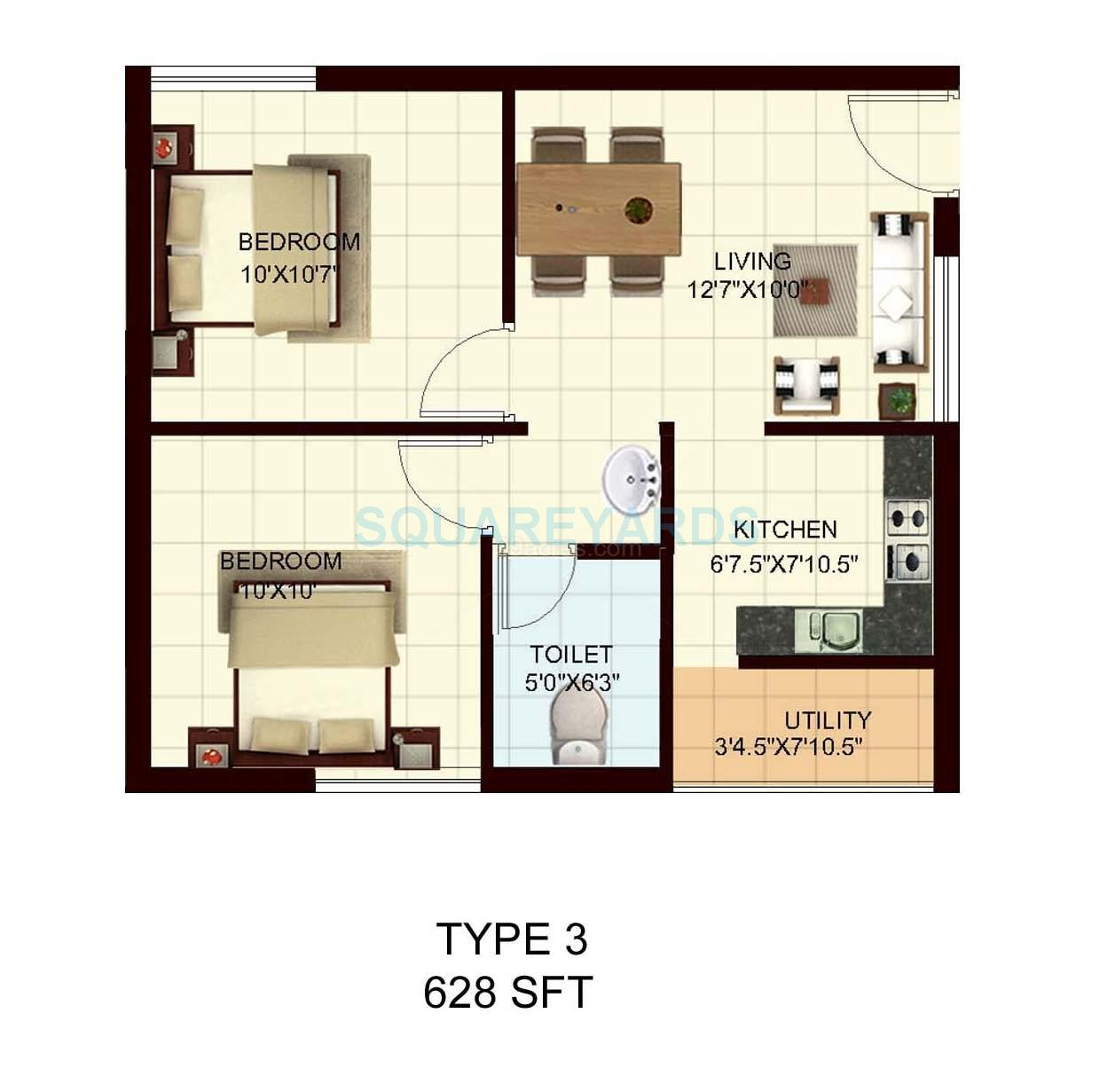 marg utsav apartment 2bhk 628sqft1