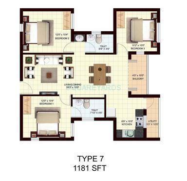 marg utsav apartment 3bhk 1181sqft1