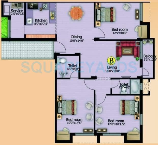marutham group paradise apartment 3bhk 1315sqft1