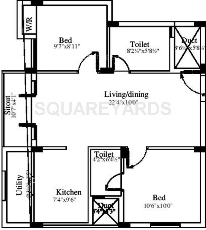 marutham group royal woods apartment 2bhk 923sqft1