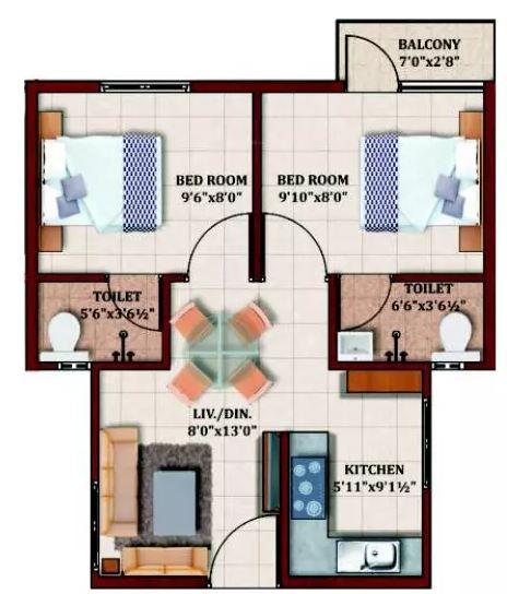 mcb marvel apartment 2bhk 535sqft21