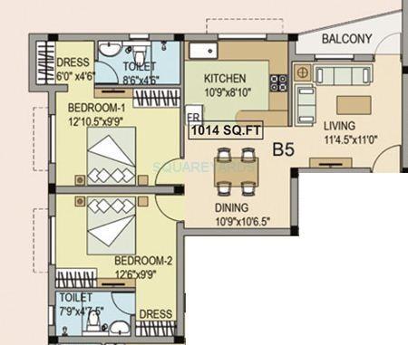 navin housing maris dale apartment 2bhk 1014sqft1