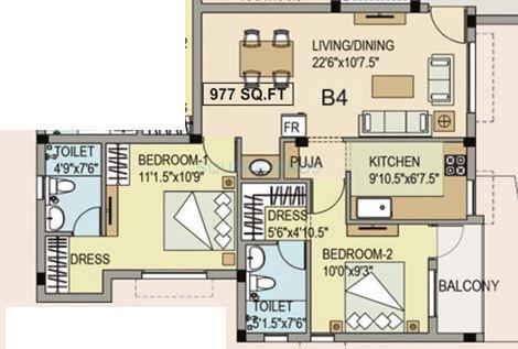 navin housing maris dale apartment 2bhk 977sqft1