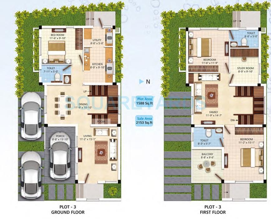 navin housing palm fronds villa 3bhk 2153sqft 1