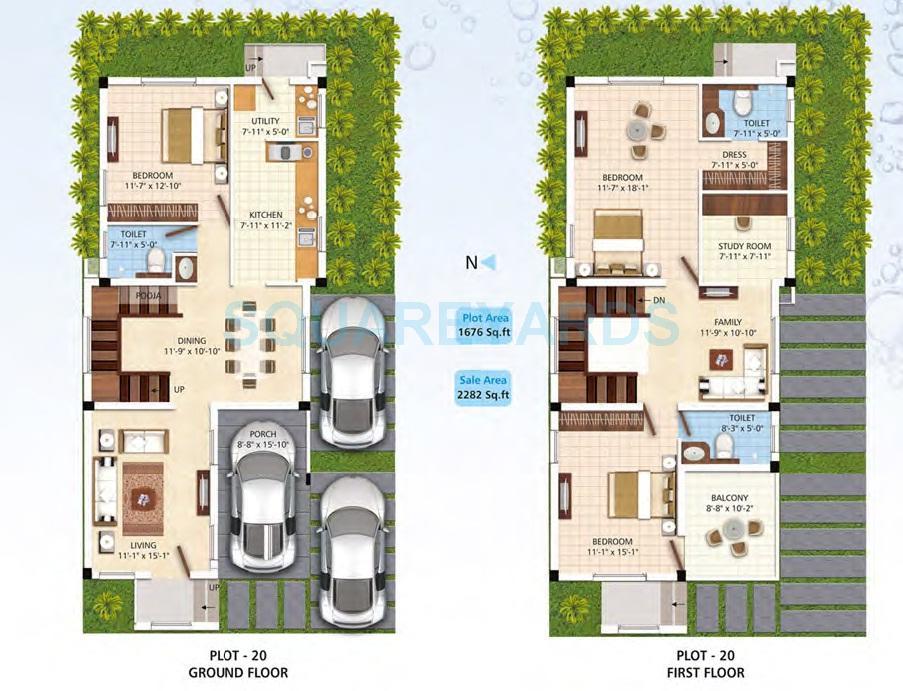 navin housing palm fronds villa 3bhk 2282sqft 1