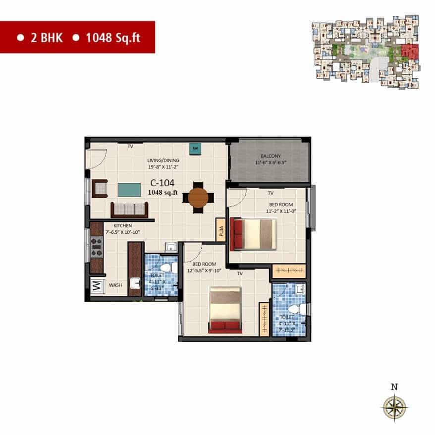 navins sanctum apartment 2bhk 1048sqft 1