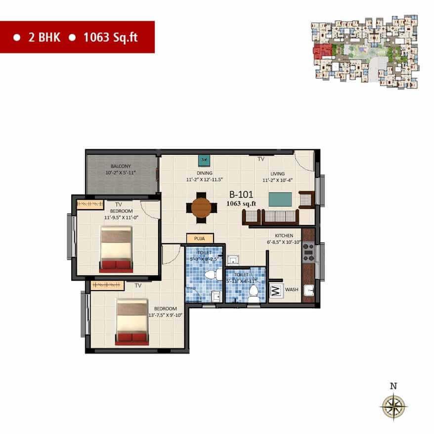 navins sanctum apartment 2bhk 1063sqft 1