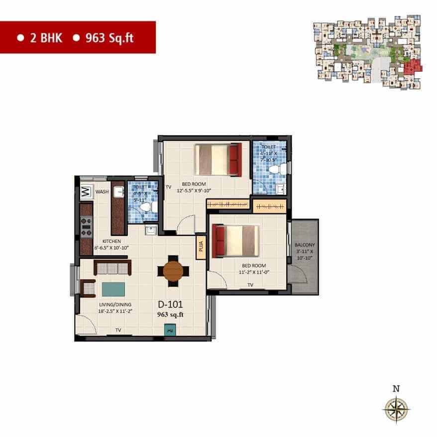 navins sanctum apartment 2bhk 963sqft 1