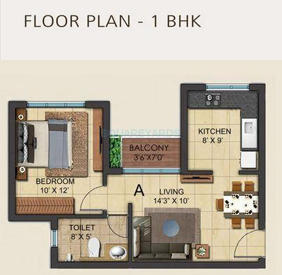 ozone metrozone ag tower apartment 1bhk 611sqft 1