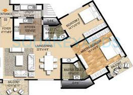 ozone metrozone apartment 2bhk 1555sqft1
