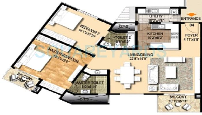 ozone metrozone apartment 3bhk 1855sqft1