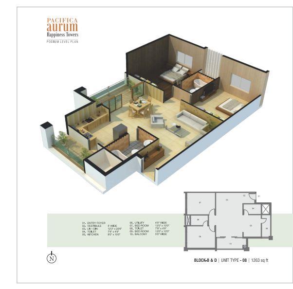 pacifica aurum apartment 2bhk 1263sqft1