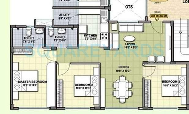 provident cosmo city apartment 3bhk 983sqft31