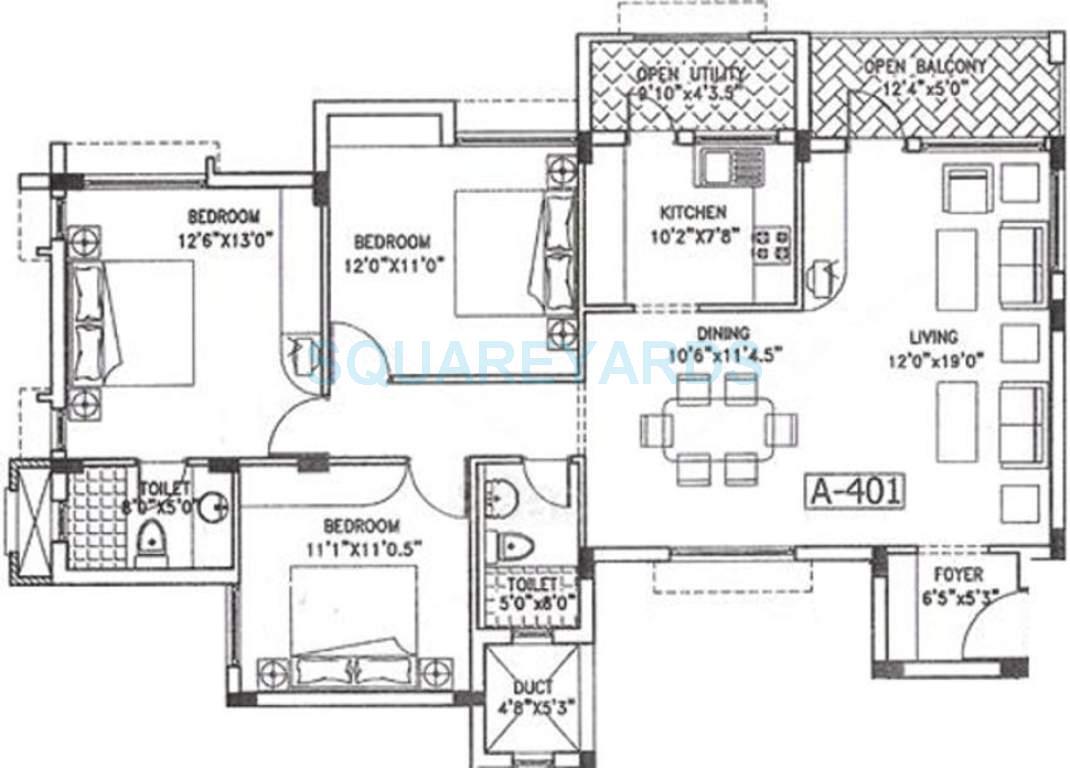 puravankara purva jade apartment 3bhk 1339sqft1