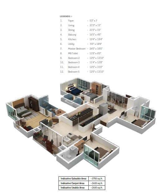 puravankara purva somerset house apartment 5bhk 3750sqft 1
