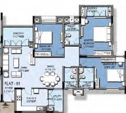 puravankara windermere apartment 3bhk 1945sqft1