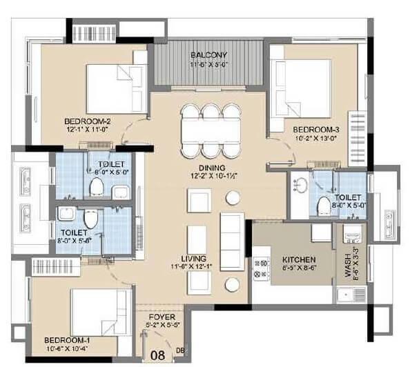 radiance icon apartment 3bhk 1402sqft 20205219125235