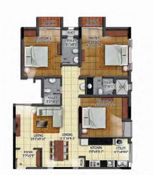 radiance mandarin cozy apartment 3 bhk 1813sqft 20204506104534