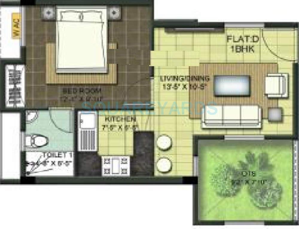 ramaniyam chaitanya apartment 1bhk 500sqft1