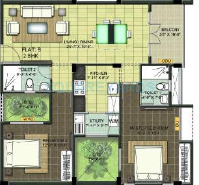 ramaniyam chaitanya apartment 2bhk 1144sqft1