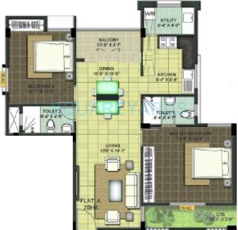 ramaniyam chaitanya apartment 2bhk 1146sqft1