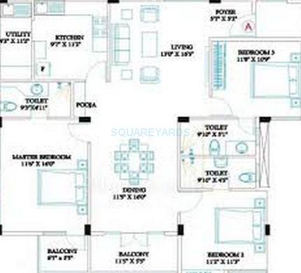 ramaniyam classic rudra apartment 3bhk 1674sqft1