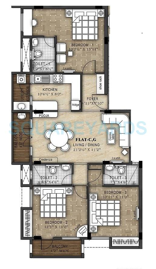 ramaniyam d 106 apartment 3bhk 1490sqft1