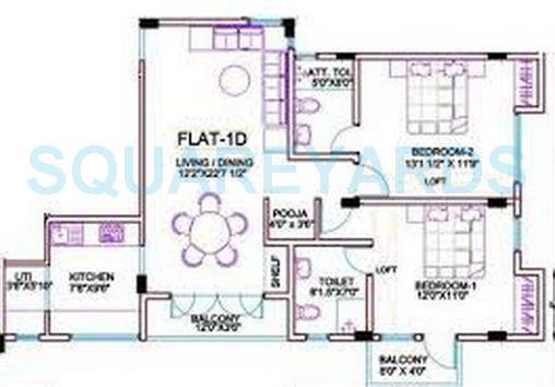 ramaniyam gatsby apartment 2bhk 1251sqft1