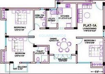 ramaniyam gatsby apartment 3bhk 1573sqft1