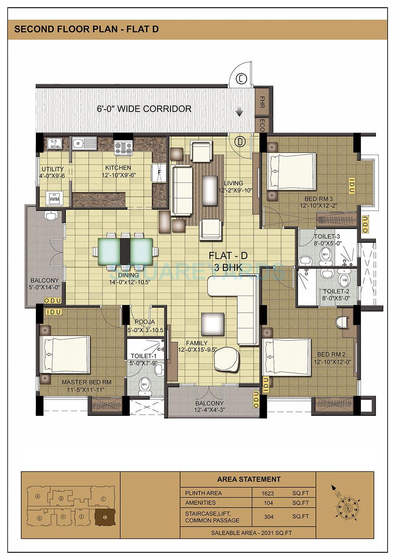 ramaniyam isha apartment 3bhk 2031sqft1