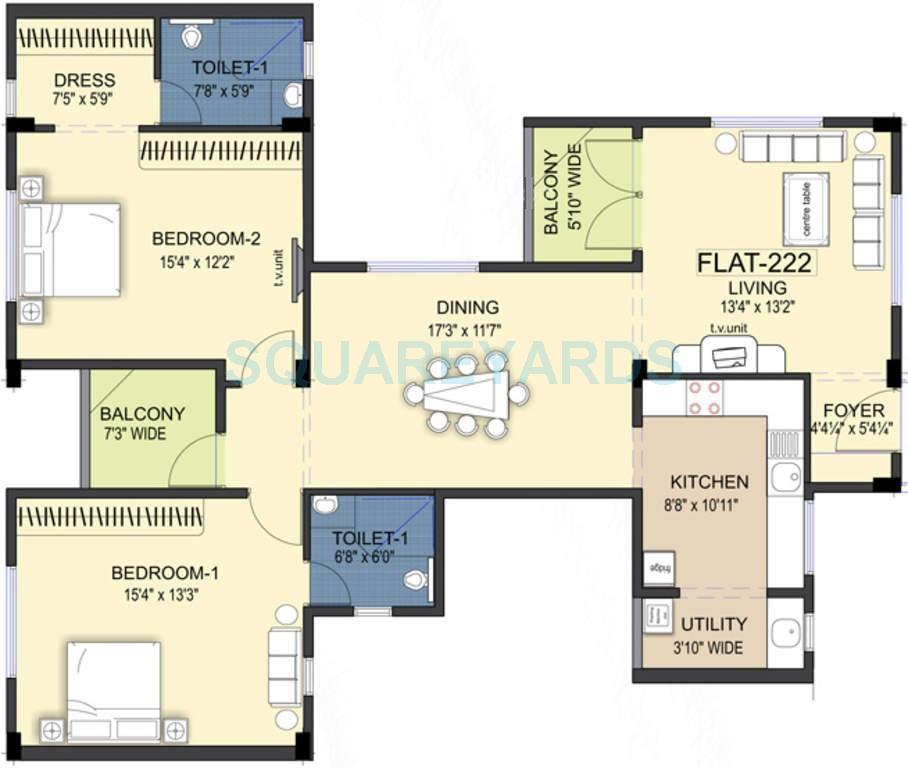 ramaniyam kattima apartment 2bhk 1621sqft1
