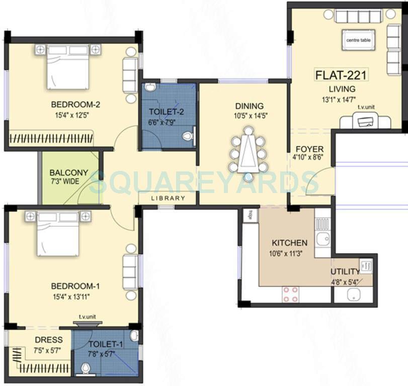 ramaniyam kattima apartment 2bhk 1651sqft1