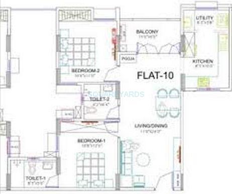 ramaniyam marvel apartment 2bhk 1000sqft1