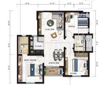 risland the ace chennai apartment 3 bhk 1757sqft 20203427103425