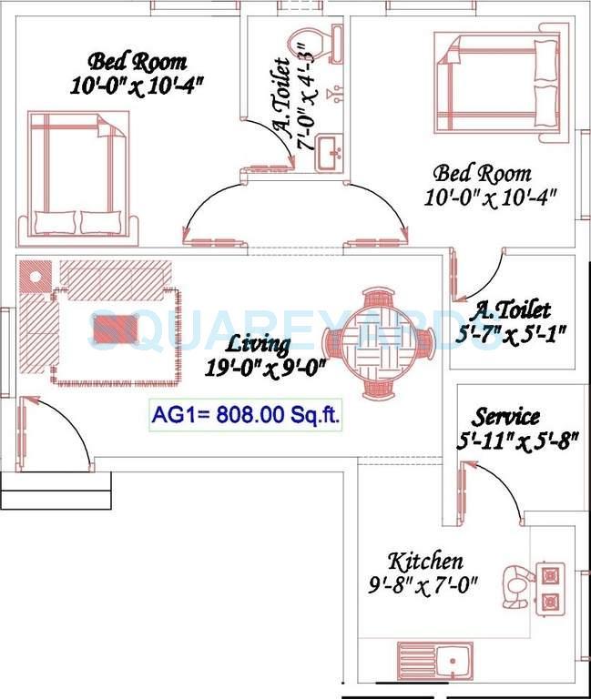 royal splendour aadhira apartment 2bhk 808sqft1
