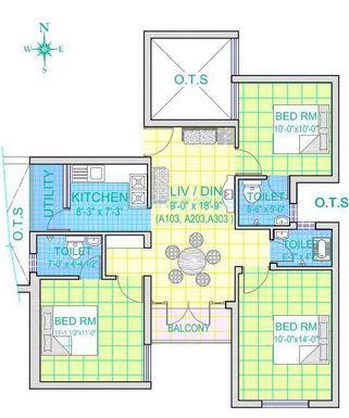royal splendour akarshana apartment 2bhk 869sqft1