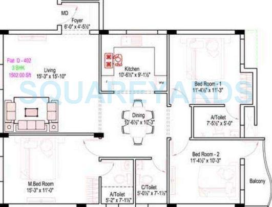 royal splendour arcadia apartment 3bhk 1502sqft1