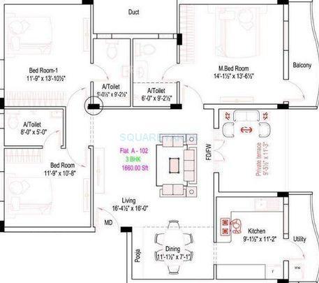 royal splendour arcadia apartment 3bhk 1660sqft1