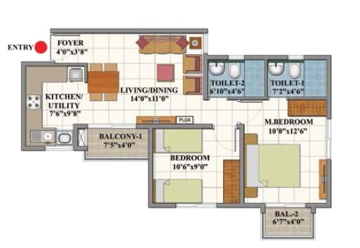 shriram divine city apartment 2bhk 816sqft51