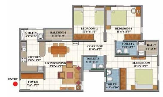 shriram divine city apartment 3bhk 1286sqft51