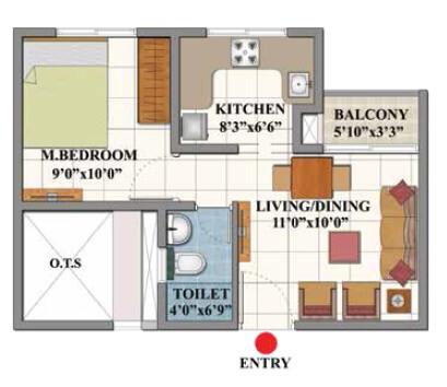 shriram divine city code kovil apartment 1bhk 452sqft 1