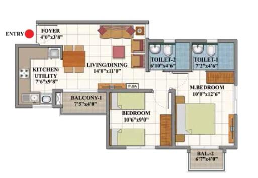 shriram divine city code kovil apartment 3bhk 816sqft 1