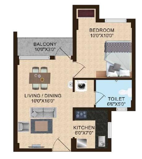 shriram magizhchi apartment 1bhk 605sqft 1
