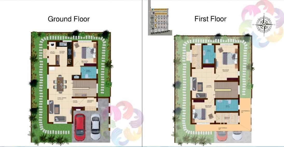 shriram onecity grand villas villa 3bhk 1555sqft 1