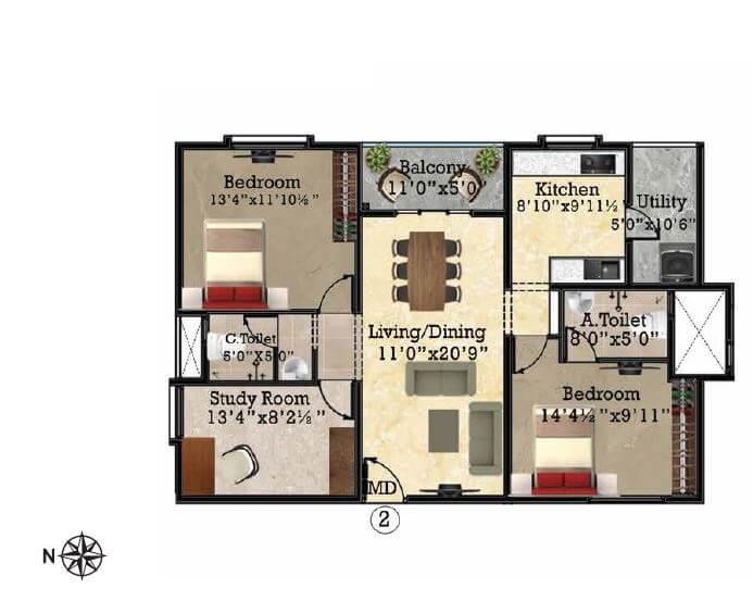 shriram park 63 apartment 2bhk st 1375sqft31