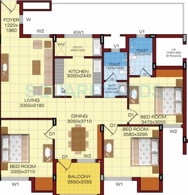 shriram properties shankari apartment 3bhk 1634sqft1