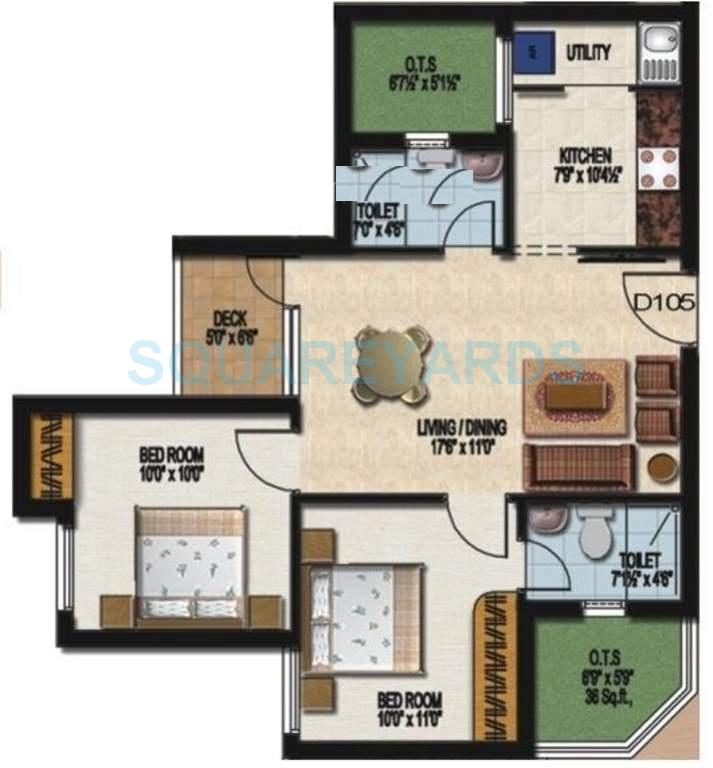 sidharth housing dakshin apartment 2bhk 801sqft1