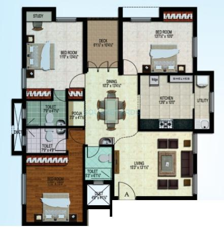 sidharth housing pluto apartment 3bhk 1508sqft1